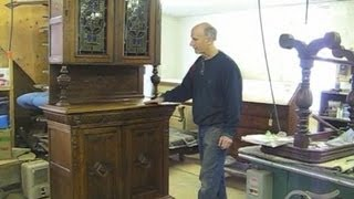 Adding Missing Moulding To A Zeeland Cabinet - Thomas Johnson Antique Furniture Restoration