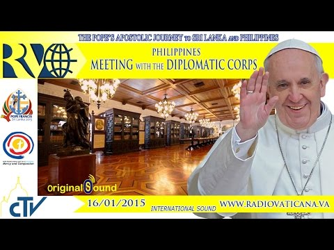 Pope in Philippines - Meeting with the Diplomatic Corps - 20