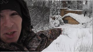 ЗИМА ПРИШЛА Встретил ЗВЕРЯ... ВСЁ СНЕГОМ ЗАМЕЛО  Dugout under the snow