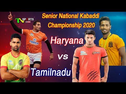 Tamilnadu State Vs Haryana State | 67th Senior National Kabaddi Championship 2020 @ Jaipur Rajasthan