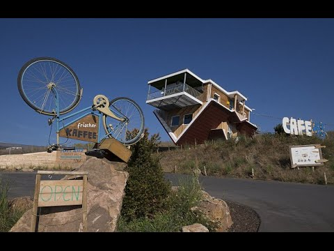 Upside Down Cafe In Germany A Huge Hit With Visitors | Toppels Roadside Cafe, Wertheim, Germany