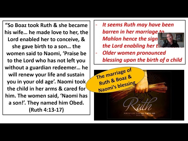 Bible Study on the Book of Ruth, session 4