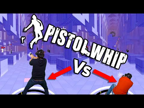Pistol Whip Versus - MIXED REALITY OCULUS QUEST - Full Level VR Gameplay The Grave Multiplayer Dual