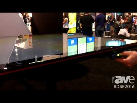DSE 2016: Makitso Demos Height Adjustable Digital Signage Capacitive Touch Table