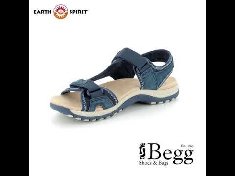 Earth Spirit Frisco 28093-70 Navy Walking Sandals