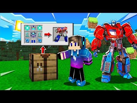 ماين كرافت : تحولت الي رجل إلى يتحول الي سيارة😱 قوة صواريخ اسطورية😮!!Transformers