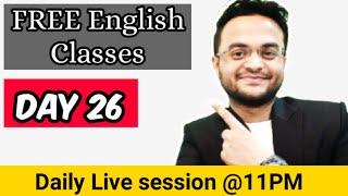 July English Challenge | DAY 26 - Functional Grammar | Daily Live Session @11PM | Lyfe Skademy screenshot 3