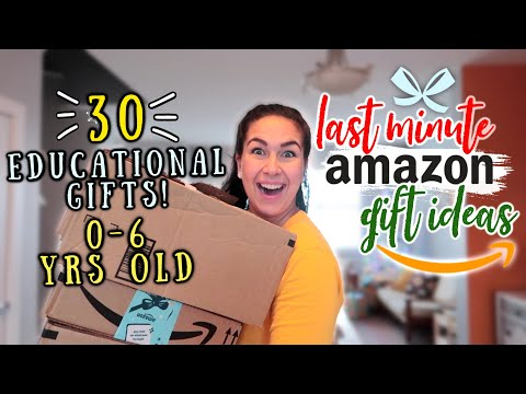LAST MINUTE AMAZON GIFT IDEAS 2020 | BABY + TODDLER EDUCATIONAL GIFTS | HUGE MONTESSORI AMAZON HAUL!