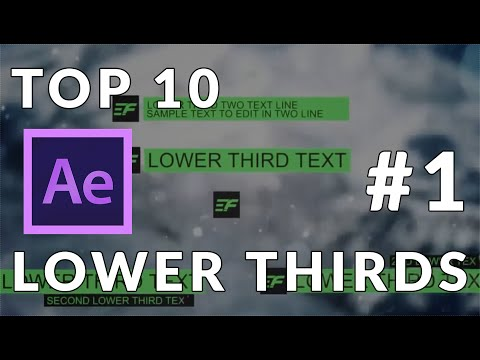 Top 10 After Effects Templates - Lower Thirds #1