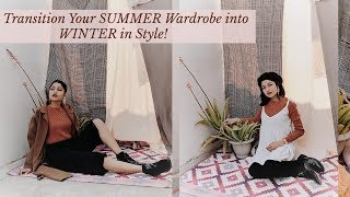 How To: Style Your SUMMER Clothes in WINTER| SONIA GARG