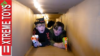 Giant Box Fort Tour! Sneak Attack Squad Sets a Trap for the Beast!