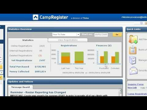 camp software camp management software overview youtube