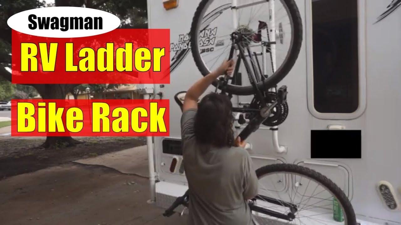 Bike Rack Installation On The Truck Camper Rv Ladder Bike Rack