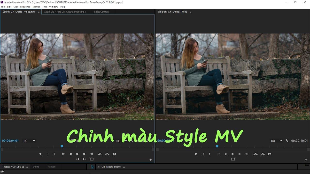 [Effect Premiere Pro] Bài 02: Hướng dẫn chỉnh màu style MV Ca nhạc