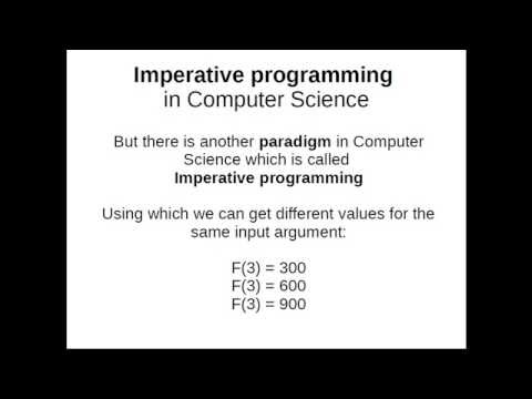 function in computer science and imperative programming paradigm
