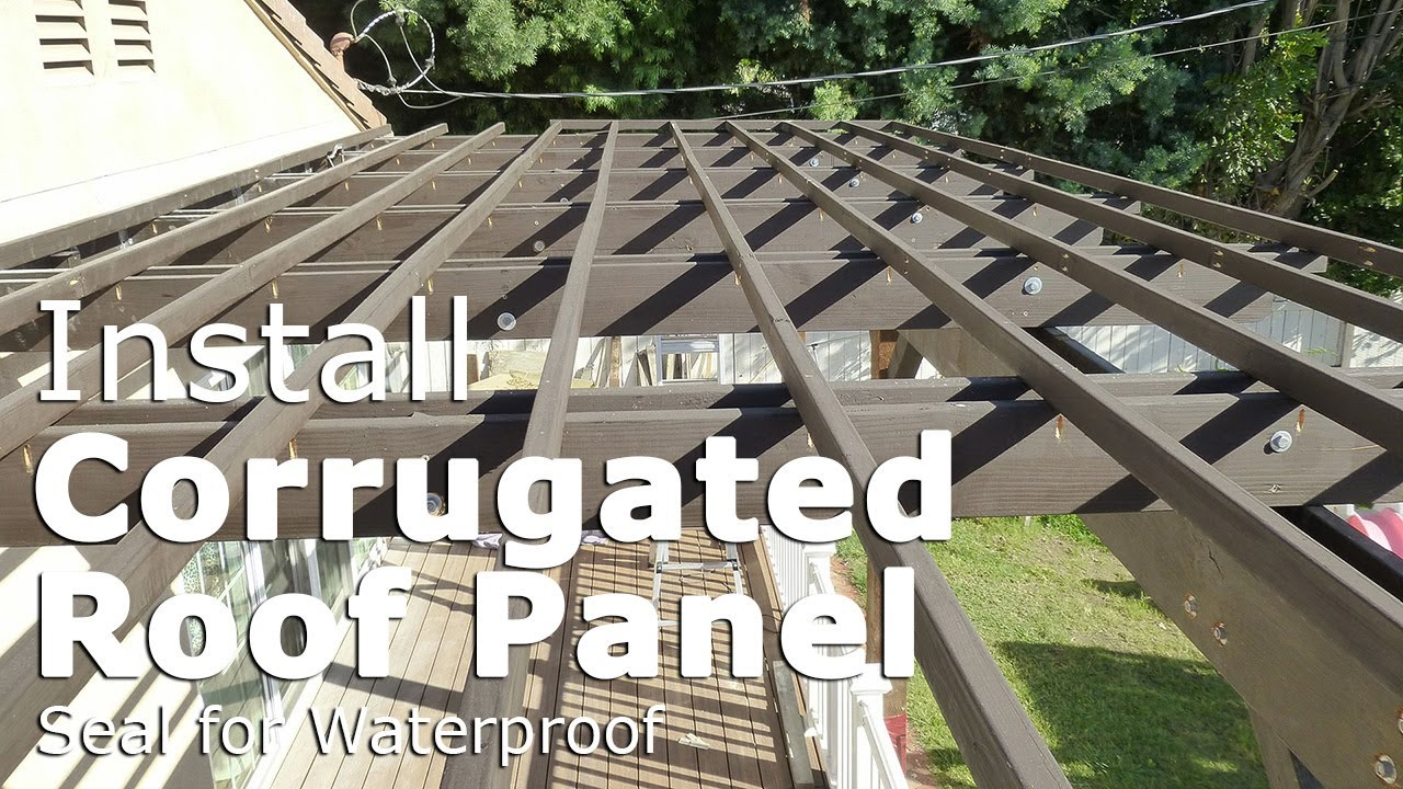 Install Corrugated Roof Panel And Seal The Flashing For Waterproof Youtube