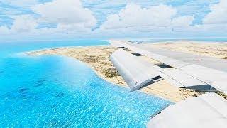 Alitalia Boeing 727 Landing @ Djerba ( Wing ) ( HD )