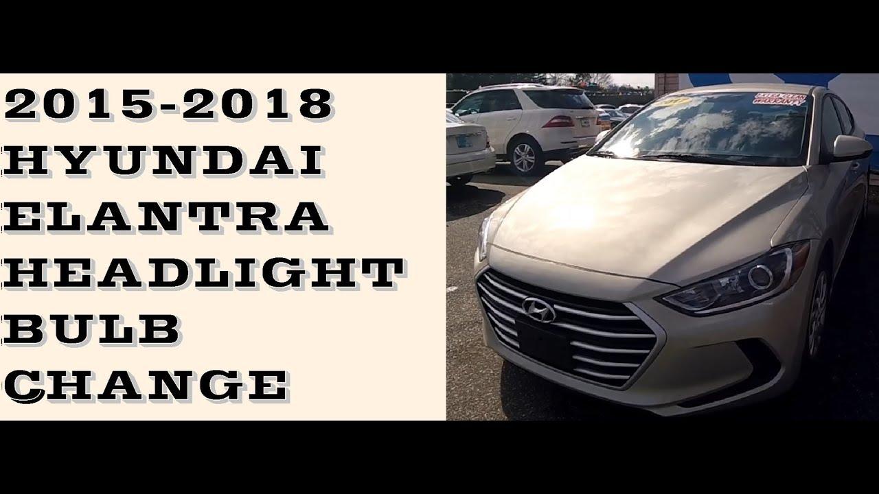 how to change headlight bulbs in hyundai elantra 2015 2018 [ 1280 x 720 Pixel ]
