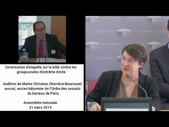 Audition de Maître Christian Charrière Bournazel, avocat.