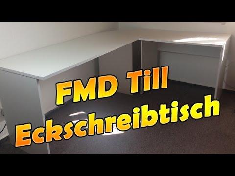 Fmd Till Eckschreibtisch Winkelkombination Unboxingaufbau