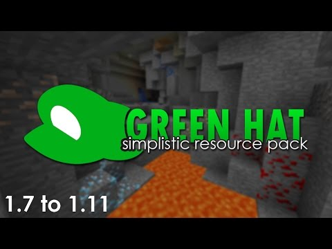 Green Hat - Simplistic PVP Resource Pack for 1.7, 1.8, 1.9, 1.10  and 1.11