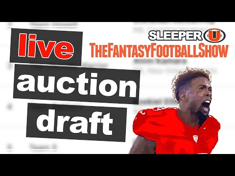 LIVE: 2019 Fantasy Football Auction Draft  - August Draft