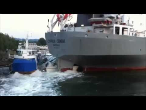 Ship Crash Cyprus Cement