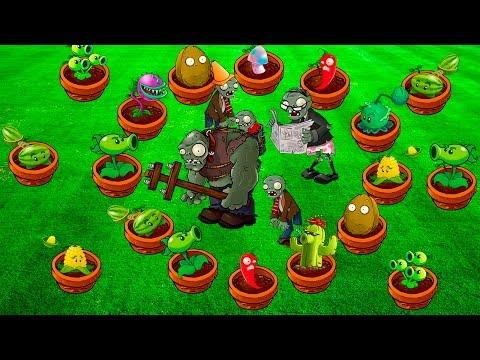 ВЫСТРОЙ ИХ - Plants vs Zombies #40 МИНИ-ИГРЫ   РАСТЕНИЯ ПРОТИВ ЗОМБИ