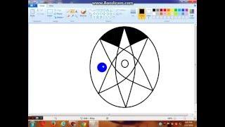 How to draw Uchiha Sasuke's Mangekyou Sharingan on MS Paint