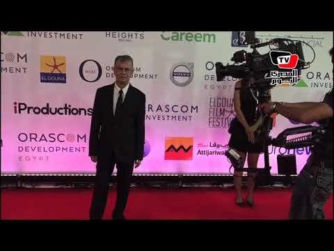 بشري ونجيب ساويرس علي الريد كاربت في مهرجان الجونه السينماي?ي  - 20:54-2018 / 9 / 20