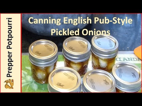 Canning English Pub-Style Pickled Onions