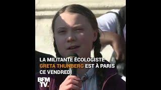 La jeune militante Greta Thunberg se mobilise pour le climat aux côtés d'étudiants à Paris
