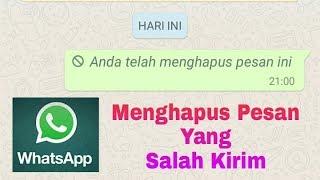 Cara menghapus pesan salah kirim di whatsapp !!!
