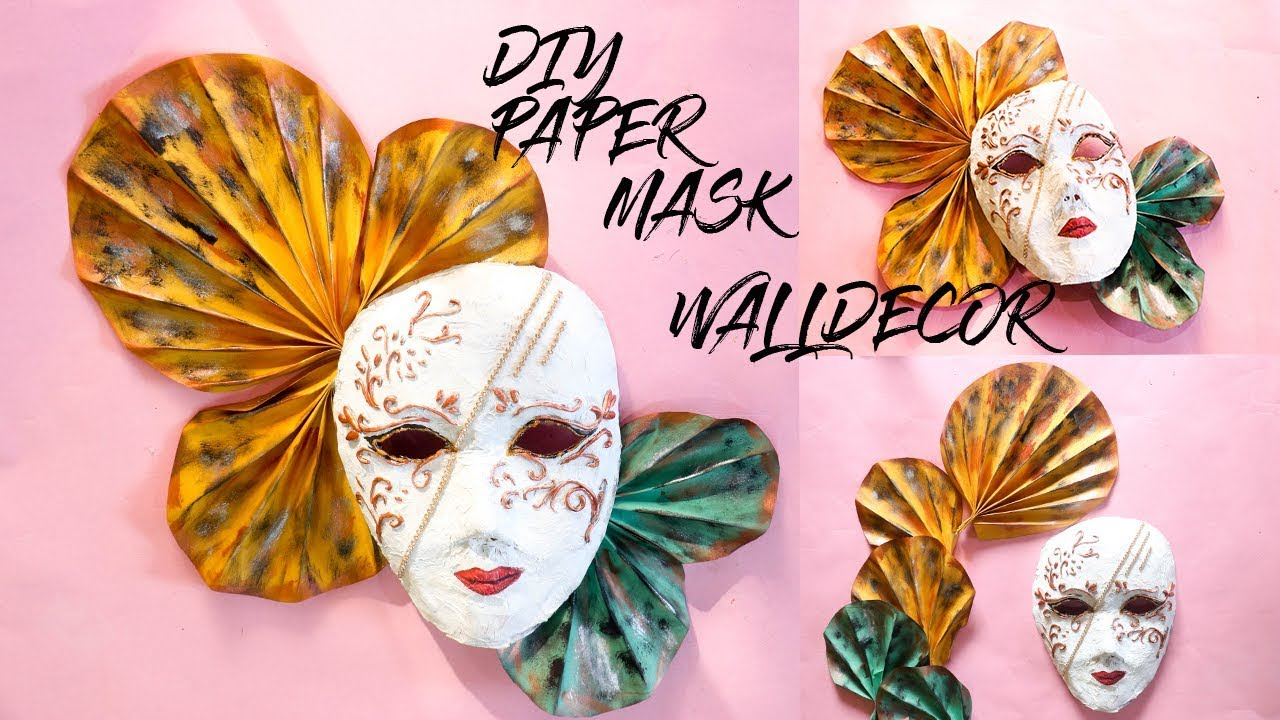 Diy Newspaper Wall Decor Mask Venetian Making With Paper