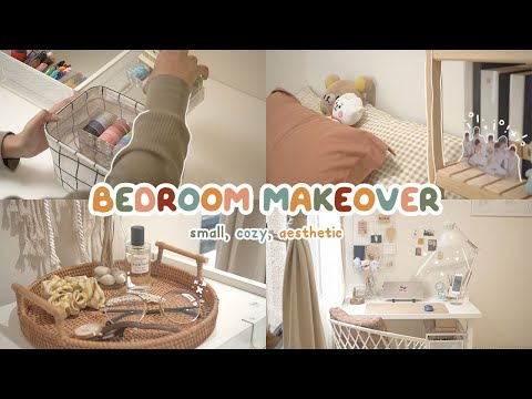 SMALL BEDROOM MAKEOVER 🧸 My 9 Sqm Cozy U0026 Aesthetic Room | Indonesia