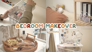 SMALL BEDROOM MAKEOVER 🧸 my 9 sqm cozy & aesthetic room | Indonesia