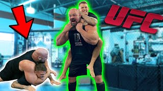 UFC FIGHTER CHOKES OUT WORLD'S STRONGEST MAN | DUSTIN POIRIER