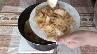Вкусная Курица с рисом и капустой в мультиварке рецепт