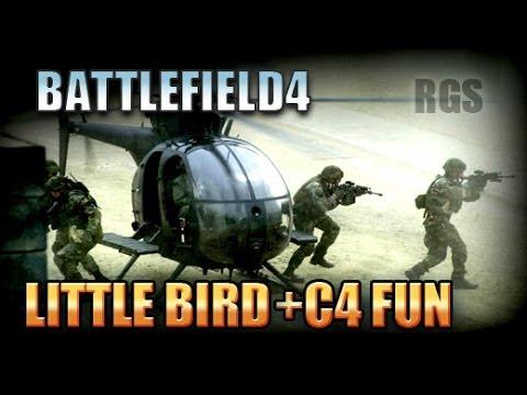 Battlefield 4 Gameplay PC - Little Bird C4 Bait / Jet Killer [HD]