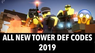 ALL 5 NEW TOWER DEFENCE SIMULATOR CODES - Tanks Update/Roblox