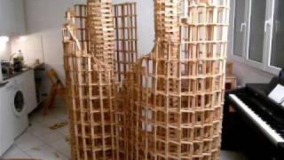 HTK#7 - kapla construction destruction domino : double spirale
