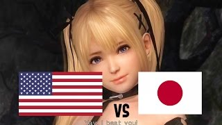 DOA5LR English Vs Japanese Voice Comparison (Part 8) (Raidou, Marie Rose, Momiji)
