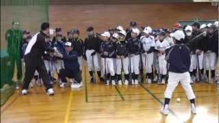 元阪神タイガースの金本知憲氏をお迎えしての野球教室 日時:2013/1/20...