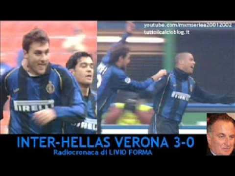 Inter-Verona 3-0 – Radiocronaca di Livio Forma (19/12/2001) da Tutto il calcio minuto per minuto