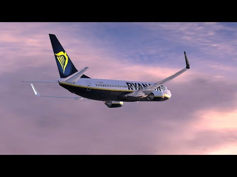 VRyanair PMDG 737-800 NGX   Fuerteventura to London Stansted & Perugia (Italy)  ✈ Active Sky