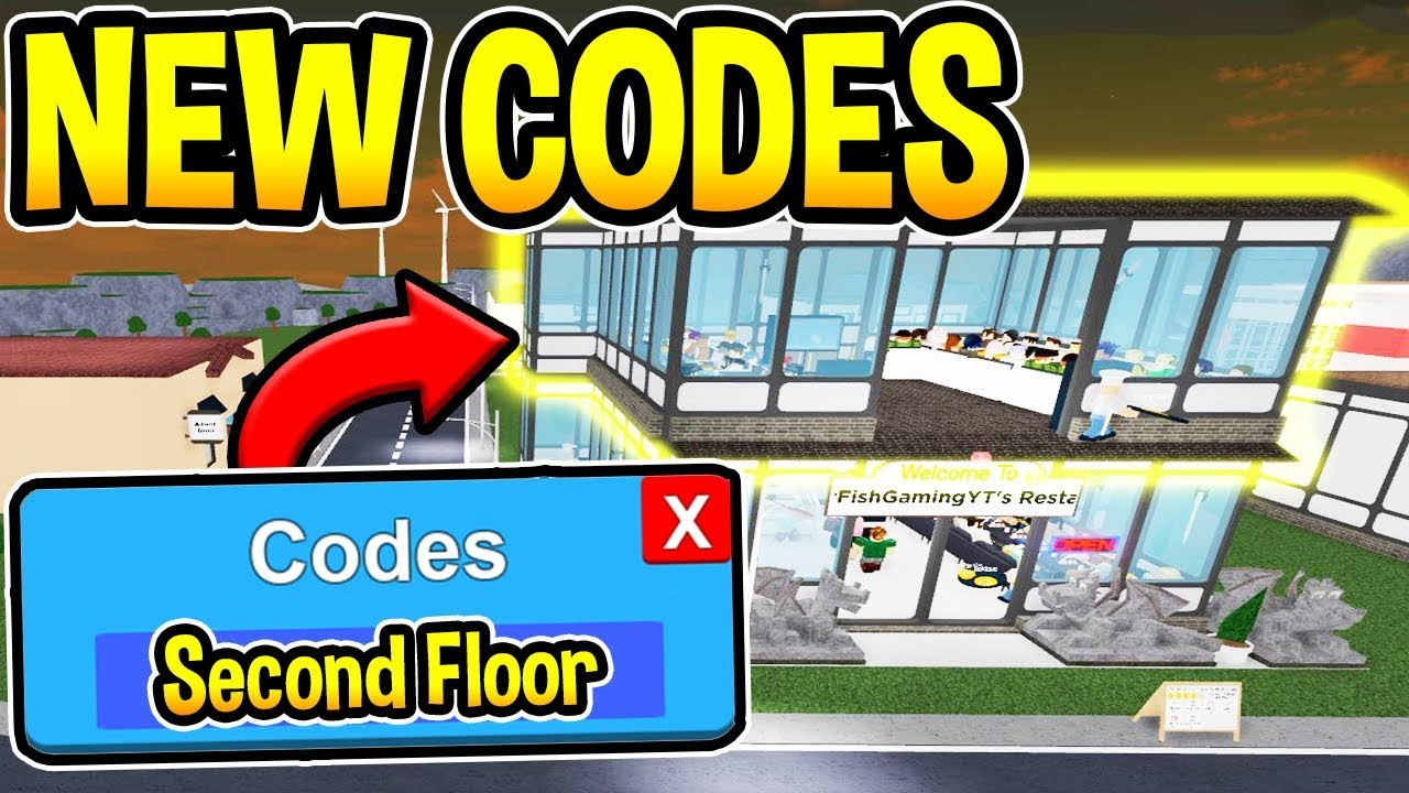 Code Roblox Restaurant Tycoon 2 Restaurant Tycoon 2 Codes Second Floor Update Roblox Youtube