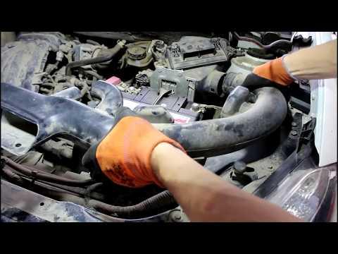 Замена сцепления на Nissan Qashqai 1,6 Ниссан Кашкай 2012 года  1часть