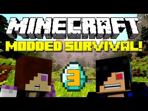 Minecraft: Modded Survival Let's Play - Episode 3: MO'S CREATURES IS SCARY