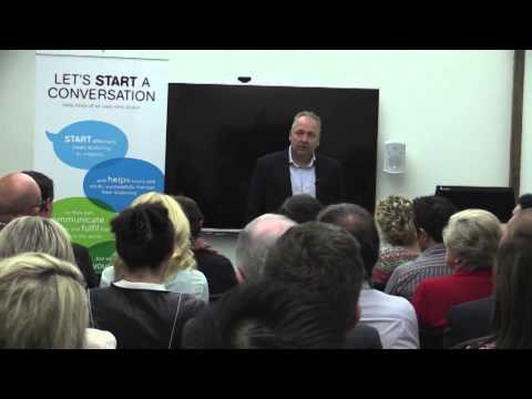 Rod Drury speaks about stuttering at fundraising breakfast - YouTube