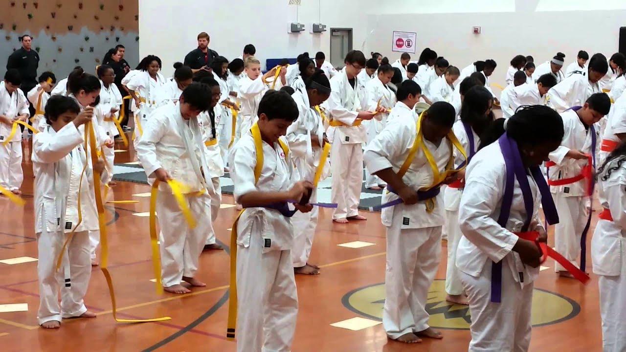 Hodges Bend Middle School Kickstart Belt Ceremony - YouTube